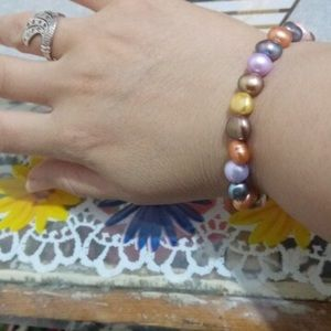 Jewelry - Beautiful colorful natural real pearl bracelet new